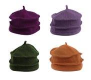 Cztery różnego kapeluszu Zdjęcie Royalty Free