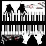 cztery ręce dźwięk muzyki Obraz Royalty Free