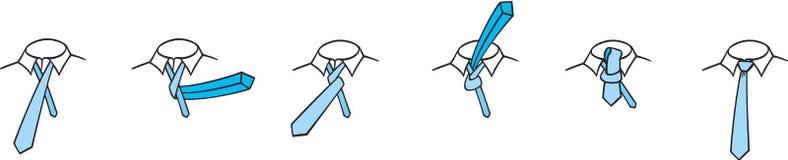 cztery ręki kępki krawat Zdjęcia Royalty Free