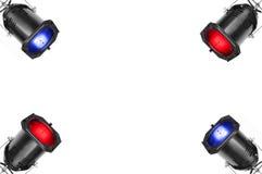cztery reflektory Fotografia Royalty Free