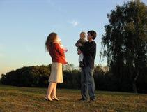 cztery rodziny zostań Fotografia Royalty Free