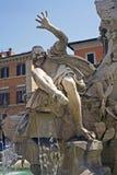 Cztery rzek fontanny struktura zdjęcie royalty free
