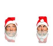 cztery Santas Fotografia Royalty Free