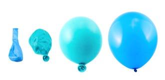 Cztery sceny odizolowywającej balonowa inflacja obrazy stock