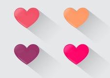 Cztery serc koloru Słodki czas dla miłości ilustracji