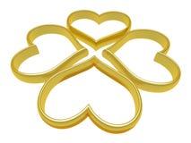 cztery serc pierścionek Obraz Stock