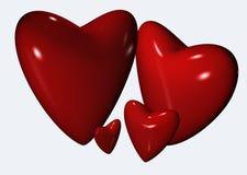 cztery serca royalty ilustracja
