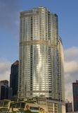 Cztery sezonów hotel finanse międzynarodowi Centre IFC Hong Kong Admirlty centrum finansowego linii horyzontu Powikłany Środkowy  Zdjęcia Stock