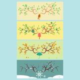 Cztery sezonów koloru wektoru ilustracja Obrazy Royalty Free