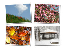 cztery sezonu zdjęcia stock