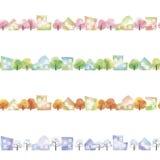 Cztery sezonu miasteczko ilustracja wektor