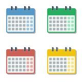 Cztery sezonu różnego koloru folowali miesiąc kalendarzowe siatki ustawiać ilustracji