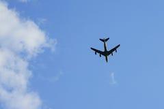 Cztery silników przewieziony samolot w powietrzu Zdjęcia Royalty Free