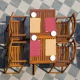 cztery stół Zdjęcie Royalty Free