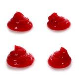 Cztery stosu słodki i korzenny ketchup obrazy stock