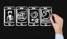 Cztery telefon komórkowy zdjęcia royalty free