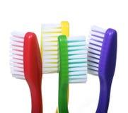 Cztery Toothbrushes Zdjęcia Stock