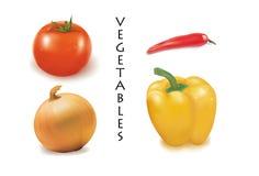cztery warzywa Obrazy Royalty Free