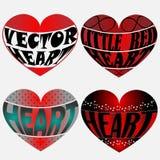 Cztery Wektorowego serca Zdjęcie Royalty Free