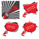 Cztery wektorowego specjalnej oferty sztandaru Fotografia Stock
