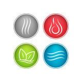 Cztery wektorowej element ikony Zdjęcie Stock