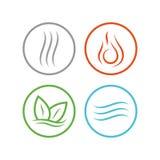 Cztery wektorowej element ikony Zdjęcia Stock