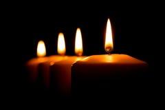 cztery świece Zdjęcia Stock