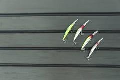 Cztery wobbler dla łowić Zdjęcia Stock