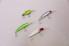 Cztery wobbler dla łowić Obrazy Royalty Free