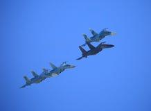 Cztery wojownika w niebie Zdjęcia Royalty Free