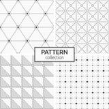 cztery wzorów bezszwowy set royalty ilustracja