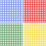 cztery wzorów bezszwowy set Obrazy Stock