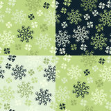 cztery wzorów bezszwowy set Obraz Royalty Free