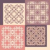 cztery wzorów bezszwowy set Rocznik geometryczny ilustracji