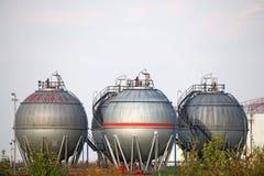 cztery zbiornika oleju Zdjęcia Royalty Free