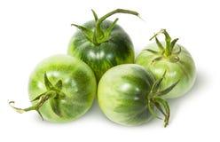 Cztery zielonego pomidoru blisko Fotografia Stock