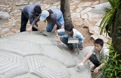 cztery zrobili rzeźba żółwia mężczyzna Fotografia Stock