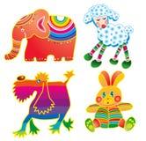 cztery zwierzęcia zabawne Obraz Royalty Free