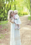 Czuła fotografii matka, córka i fotografia stock