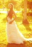 Czuła romantyczna panna młoda Zdjęcia Royalty Free