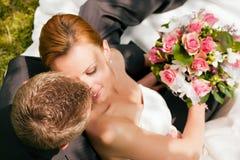 czułość ślub Obrazy Royalty Free