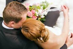 czułość ślub Fotografia Stock