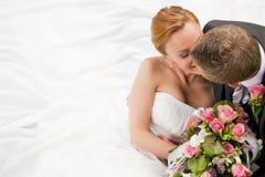 czułość ślub Zdjęcie Royalty Free