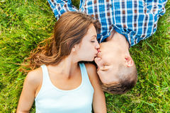 Czuły całowanie Zdjęcie Stock