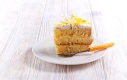 Czuły cytryna tort z szczerą cytryną Obrazy Stock