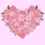 Czuły serce róże, poślubia Zdjęcia Stock