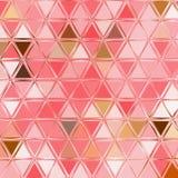 Czułych abstrakt menchii trójboka poligonalny wzór royalty ilustracja