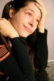 czuciowa chora kobieta. obrazy stock