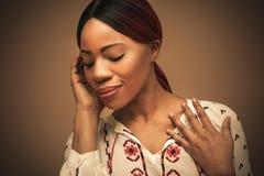 Czuciowy Piękny młode kobiety afryki Obrazy Royalty Free