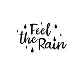 Czuje deszcz Nowożytna kaligrafia Ręcznie pisany karta Obrazy Royalty Free